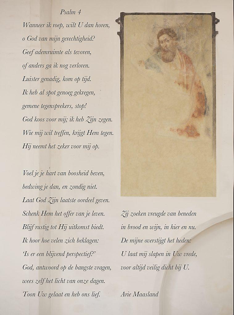 De psalmberijming waarmee Arie Maasland de RD-Schriftberijmingenprijsvraag won. Beeld Sjaak Verboom
